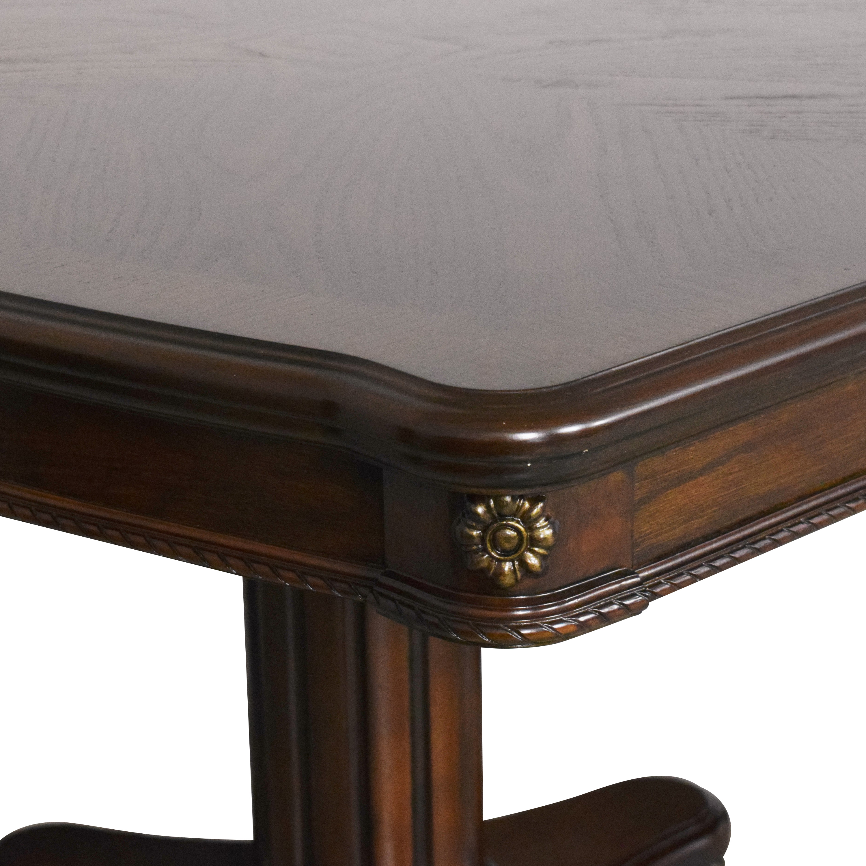 Double Pedestal Dining Table ct