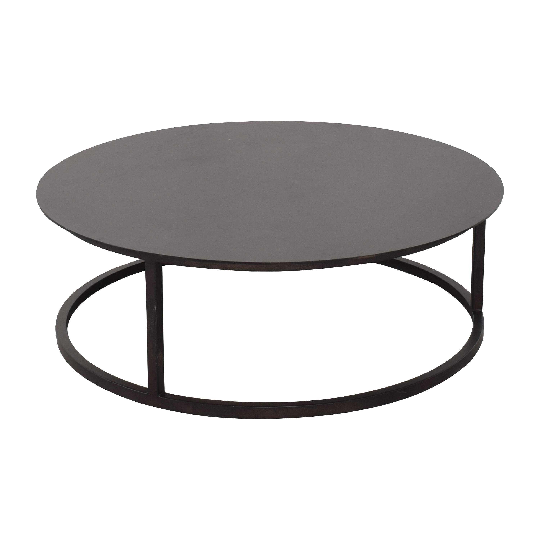 buy Restoration Hardware Mercer Round Coffee Table Restoration Hardware