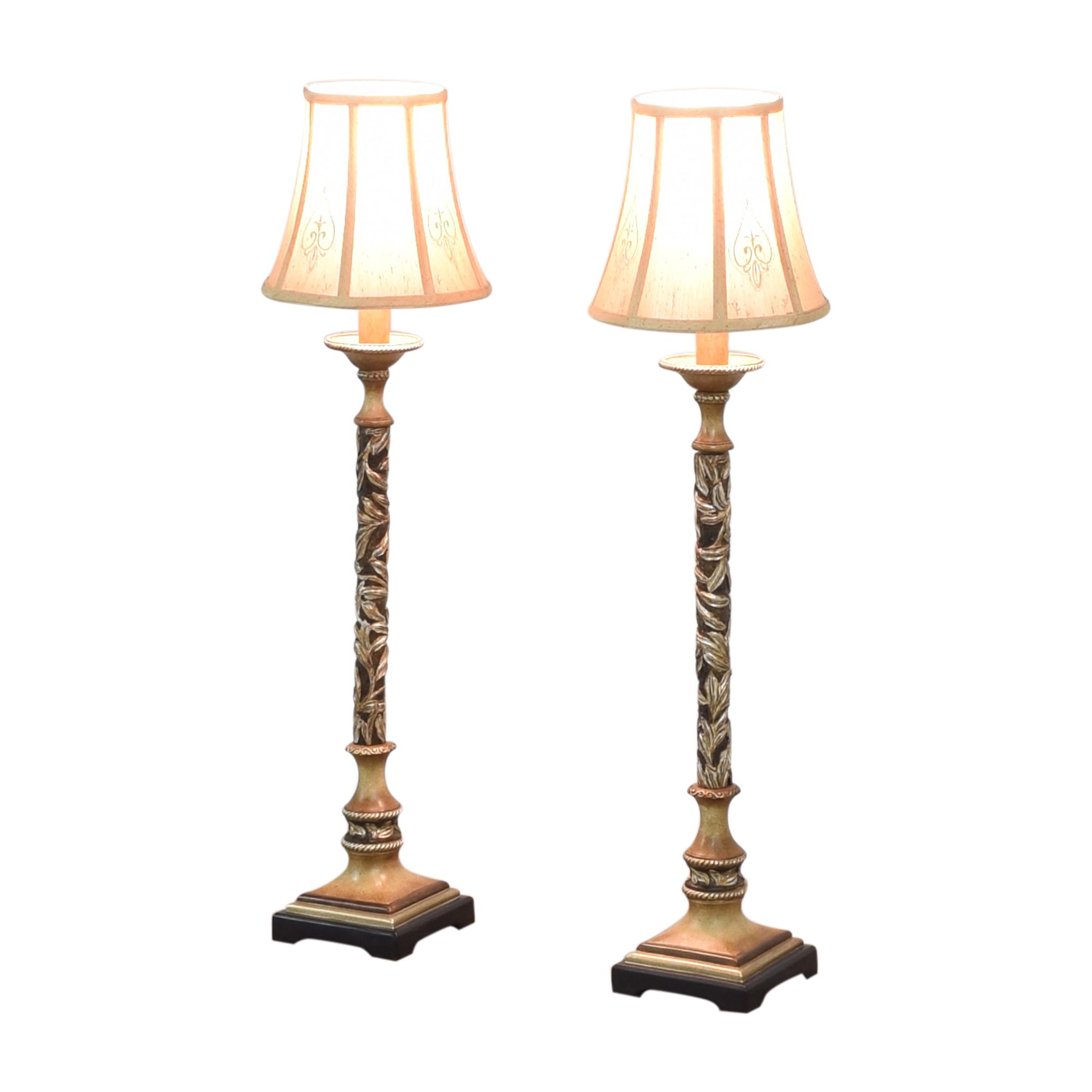 Minka Minka Salon Grand Console Table Lamps Decor