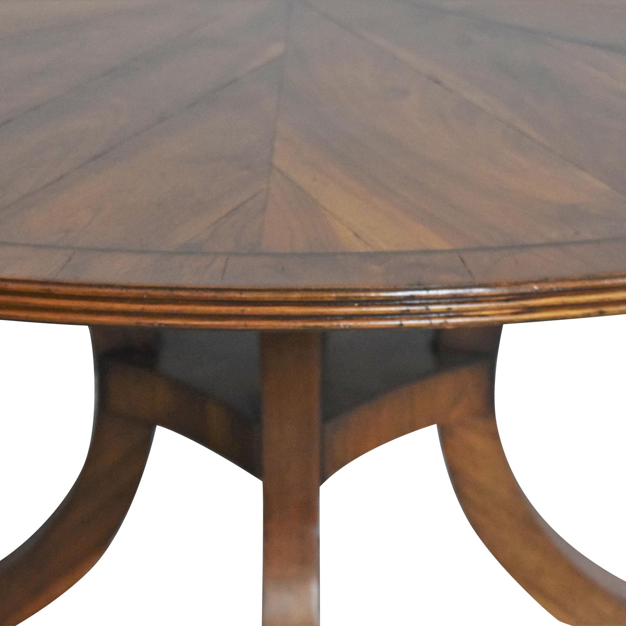 New Classics New Classics Custom Wide C-Leg Table Dinner Tables