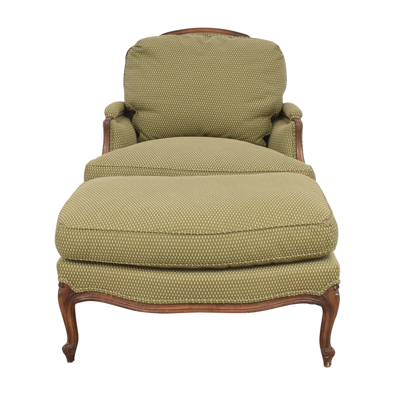 Greenbaum Interiors Greenbaum Interiors Accent Chair with Ottoman price