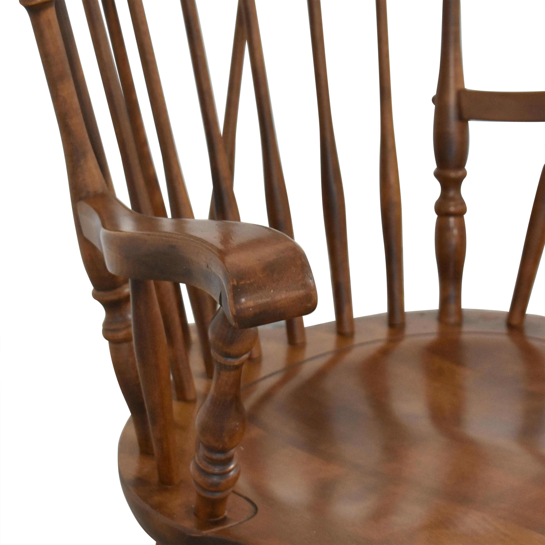 S. Bent & Bros S. Bent & Bros Brace Back Windsor Dining Arm Chairs coupon