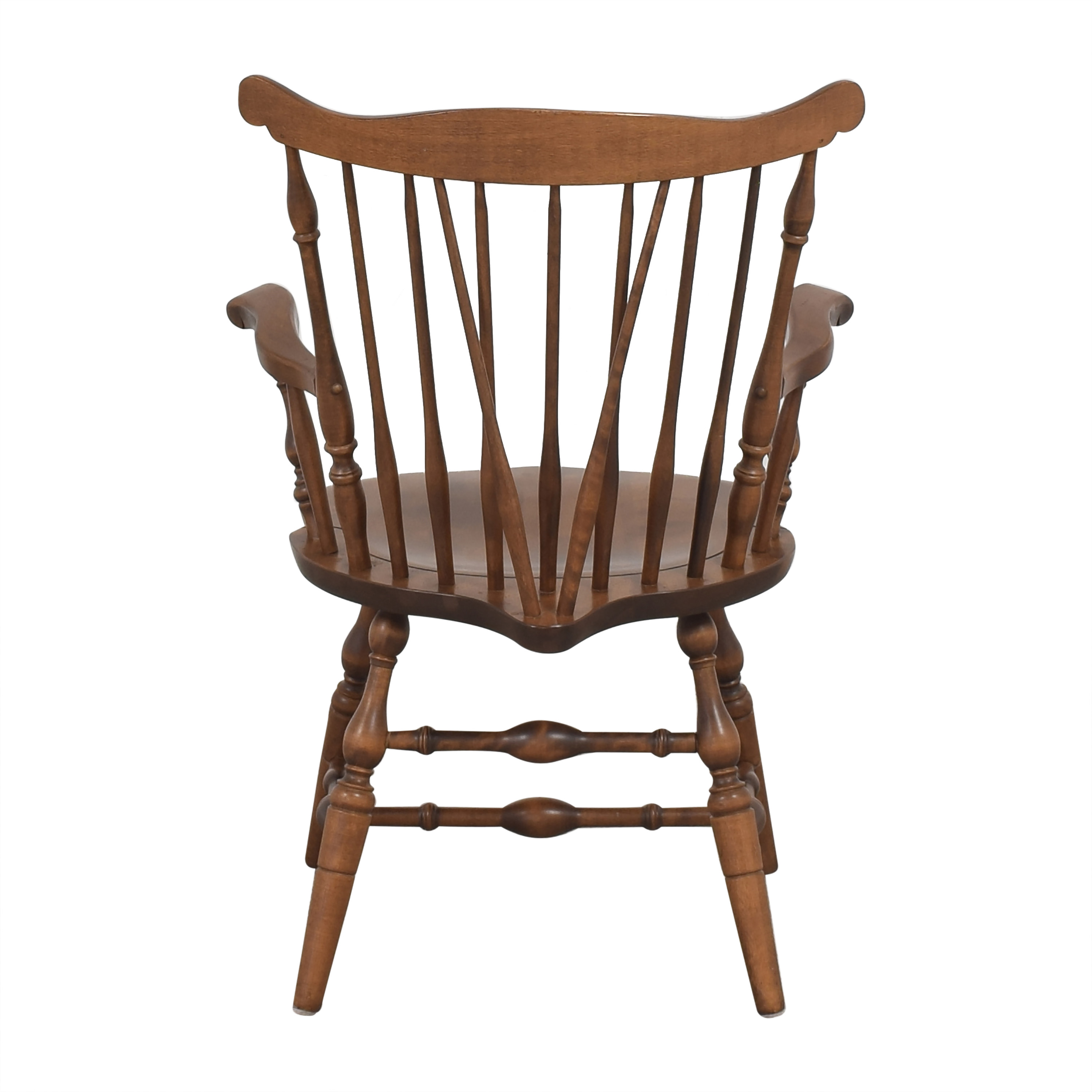 S. Bent & Bros S. Bent & Bros Brace Back Windsor Dining Arm Chairs dimensions