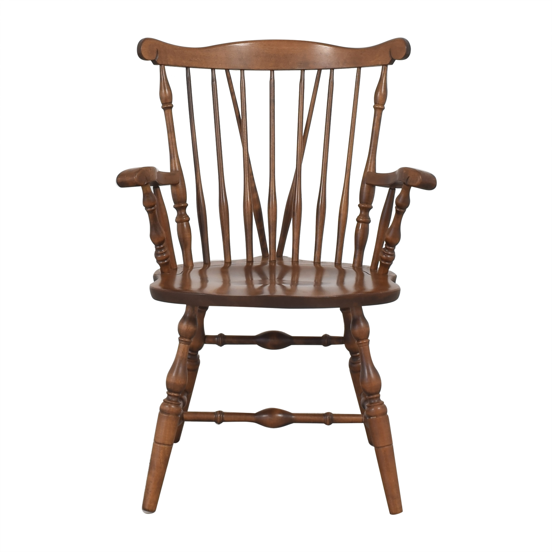 S. Bent & Bros S. Bent & Bros Brace Back Windsor Dining Arm Chairs