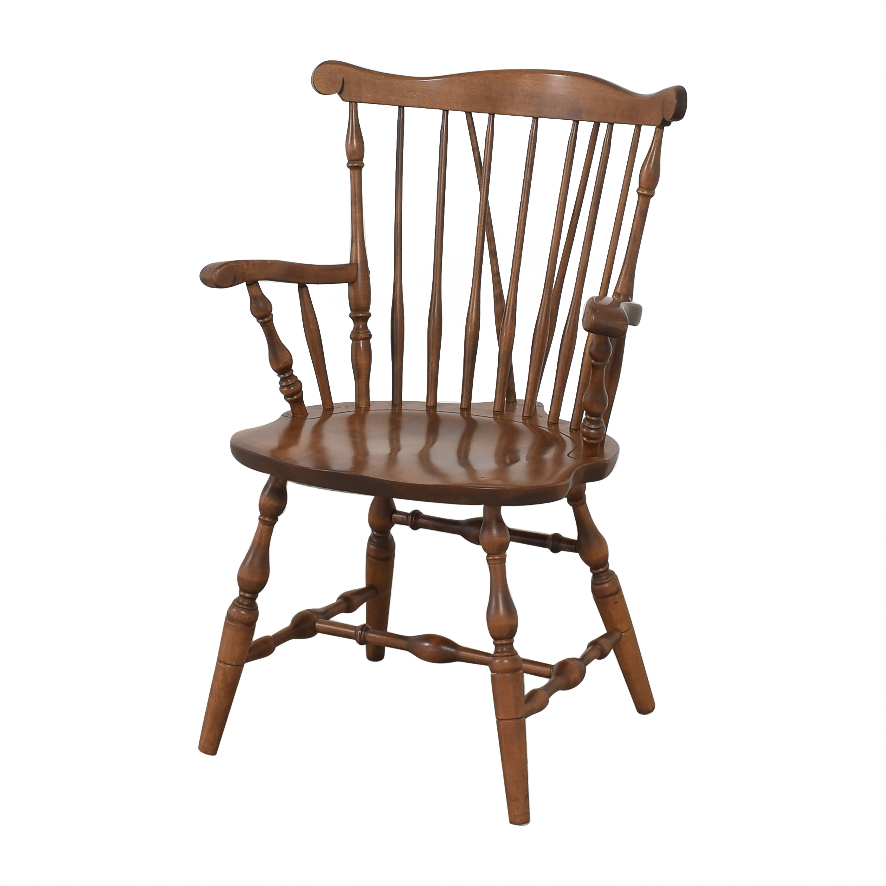 shop S. Bent & Bros Brace Back Windsor Dining Arm Chairs S. Bent & Bros Dining Chairs