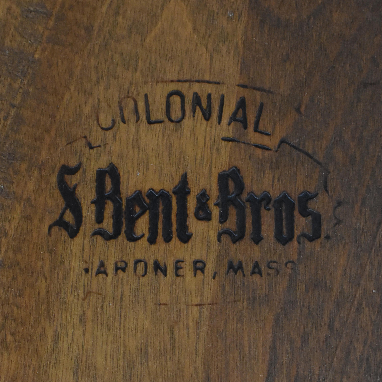 buy S. Bent & Bros Brace Back Windsor Dining Arm Chairs S. Bent & Bros