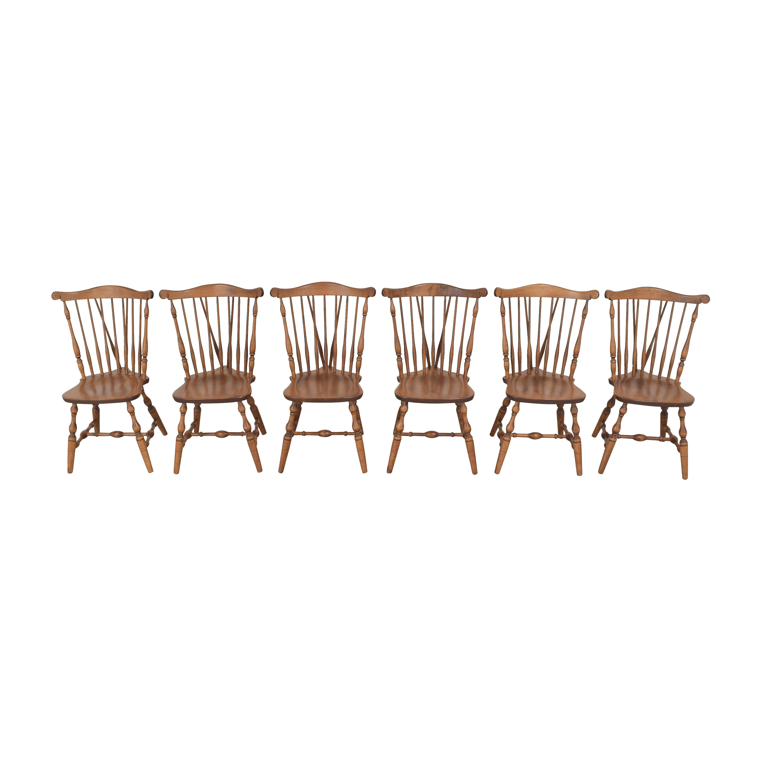 S. Bent & Bros S. Bent & Bros Brace Back Windsor Dining Side Chairs Dining Chairs