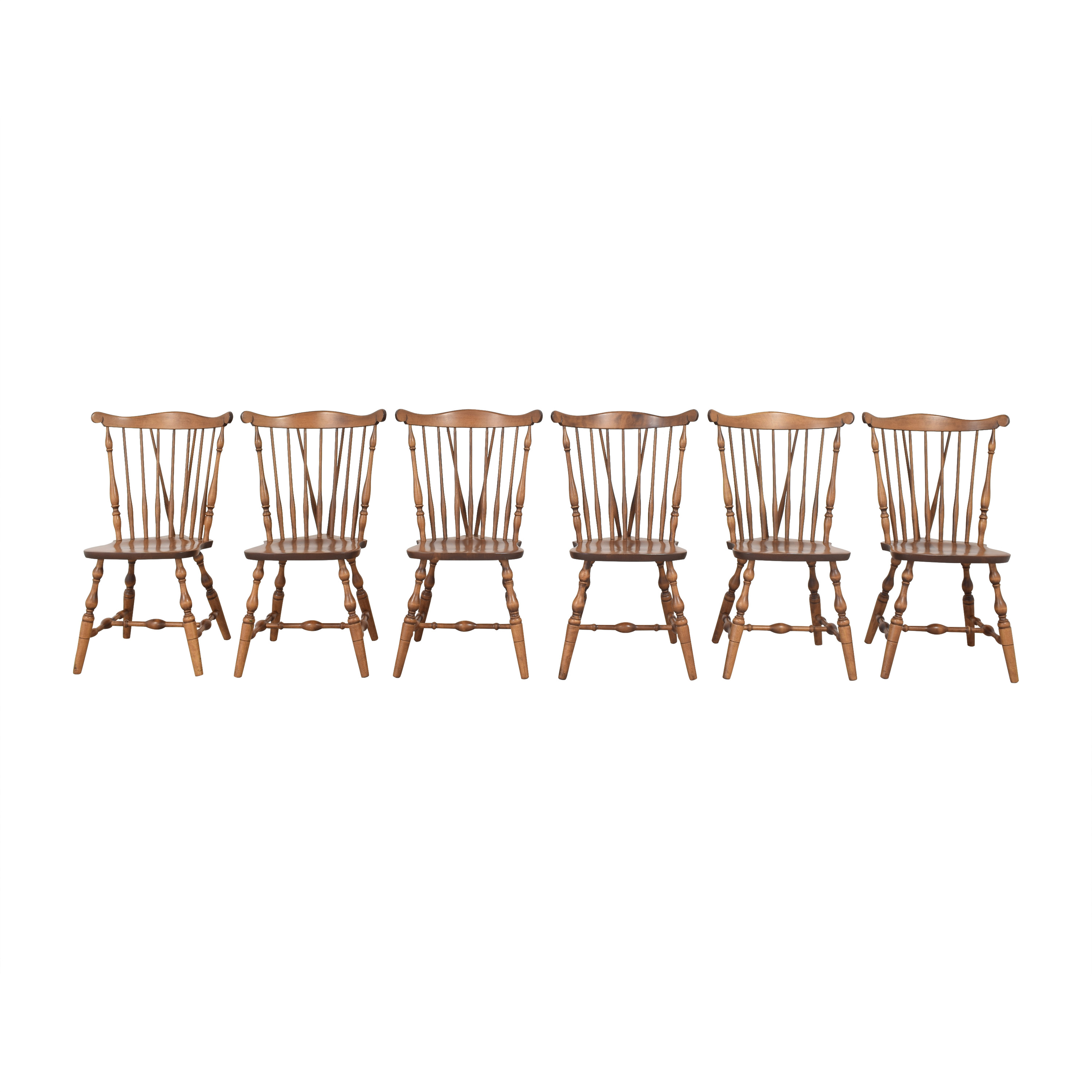 S. Bent & Bros S. Bent & Bros Brace Back Windsor Dining Side Chairs pa