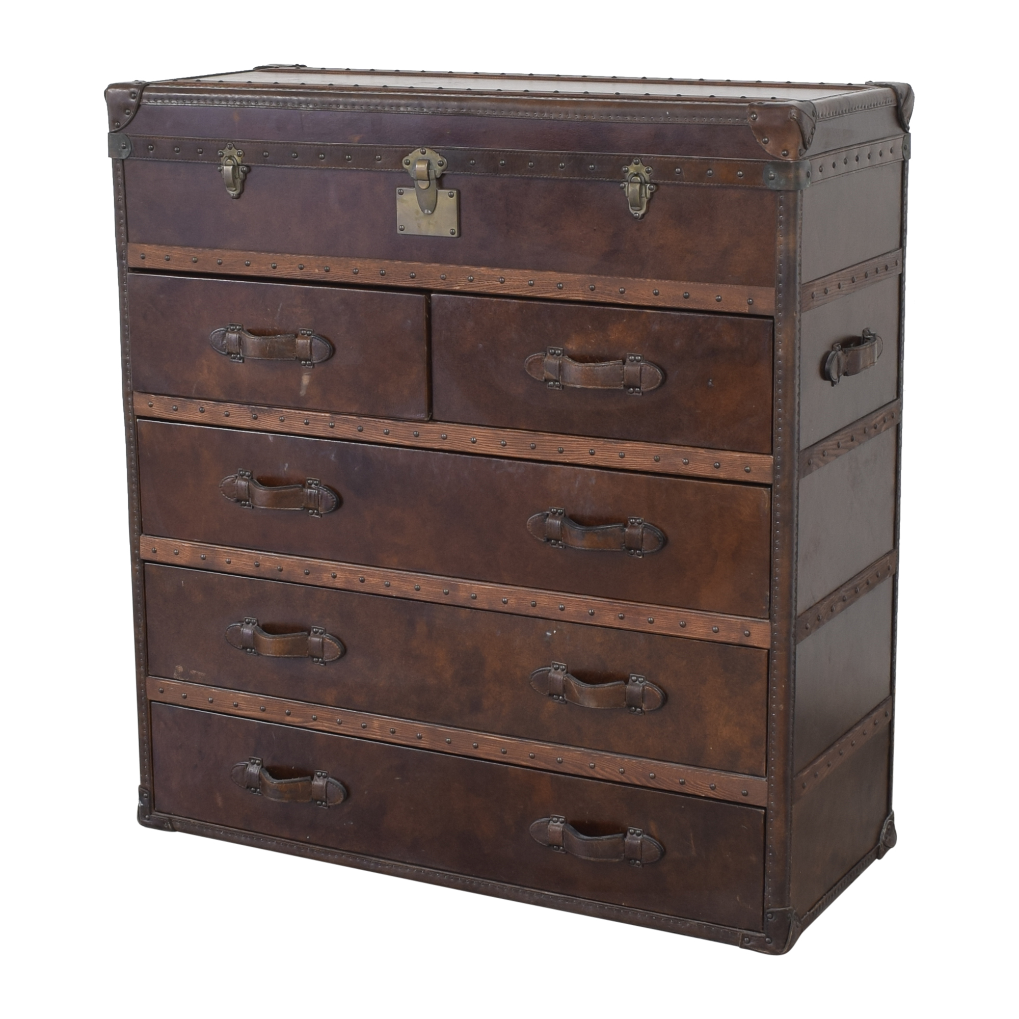 Restoration Hardware Restoration Hardware Mayfair Steamer Trunk Chest pa