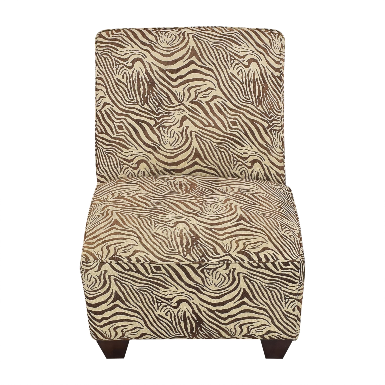 Animal Print Slipper Chair used