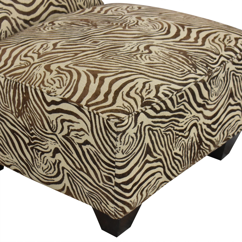 buy Animal Print Slipper Chair  Chairs