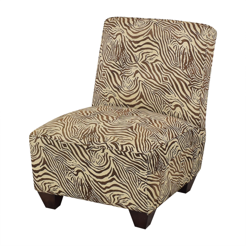 Animal Print Slipper Chair pa