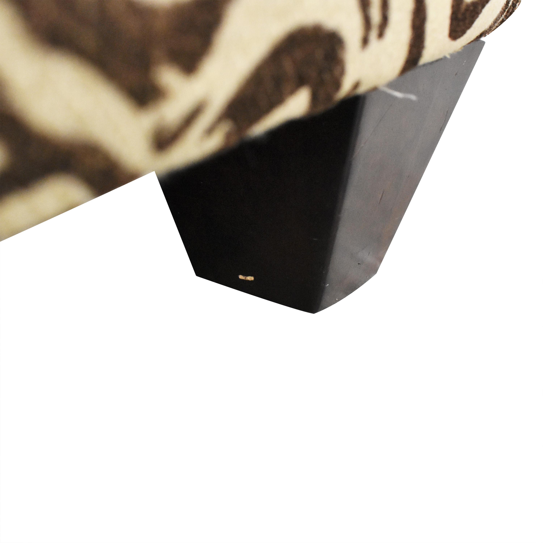 Animal Print Slipper Chair brown and cream