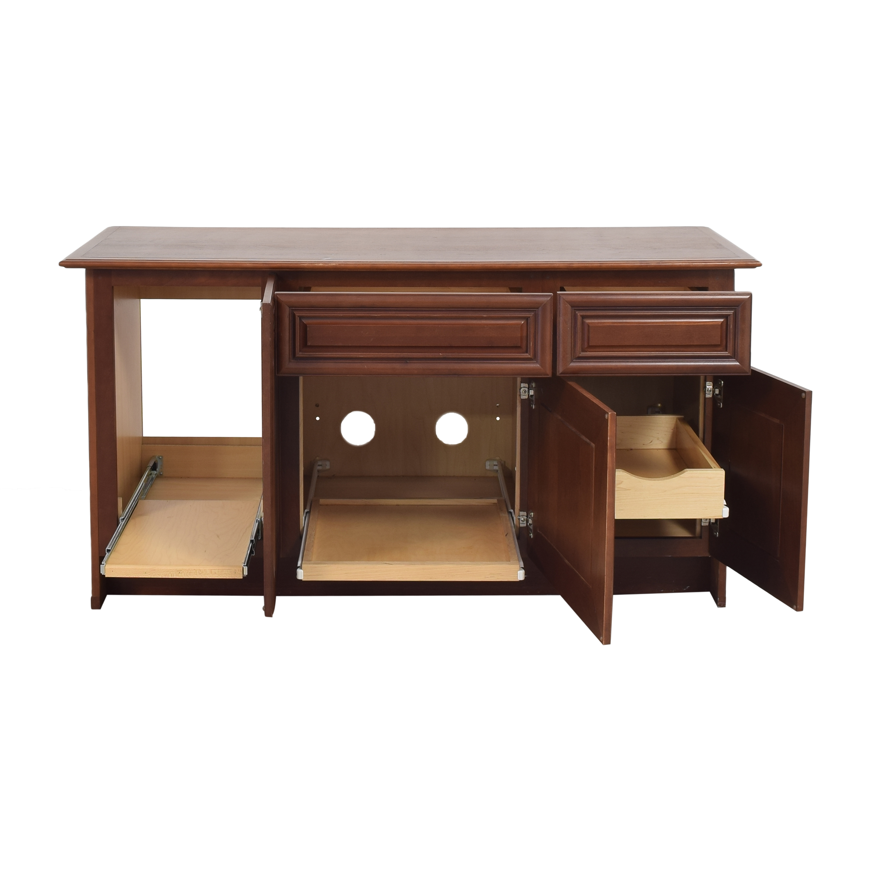 shop Yorktowne Cabinetry Office Credenza Yorktowne Cabinetry Storage