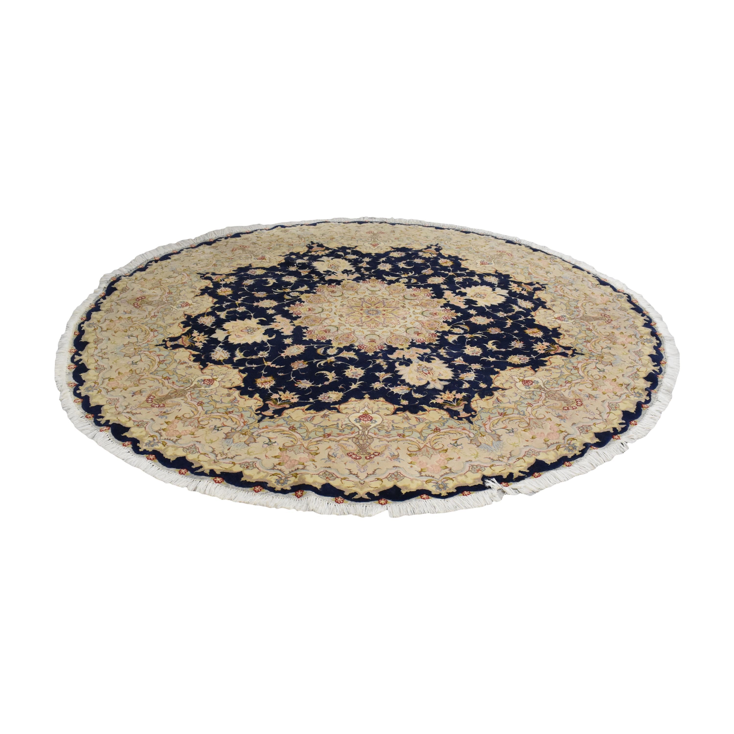 Round Patterned Rug with Tassels coupon