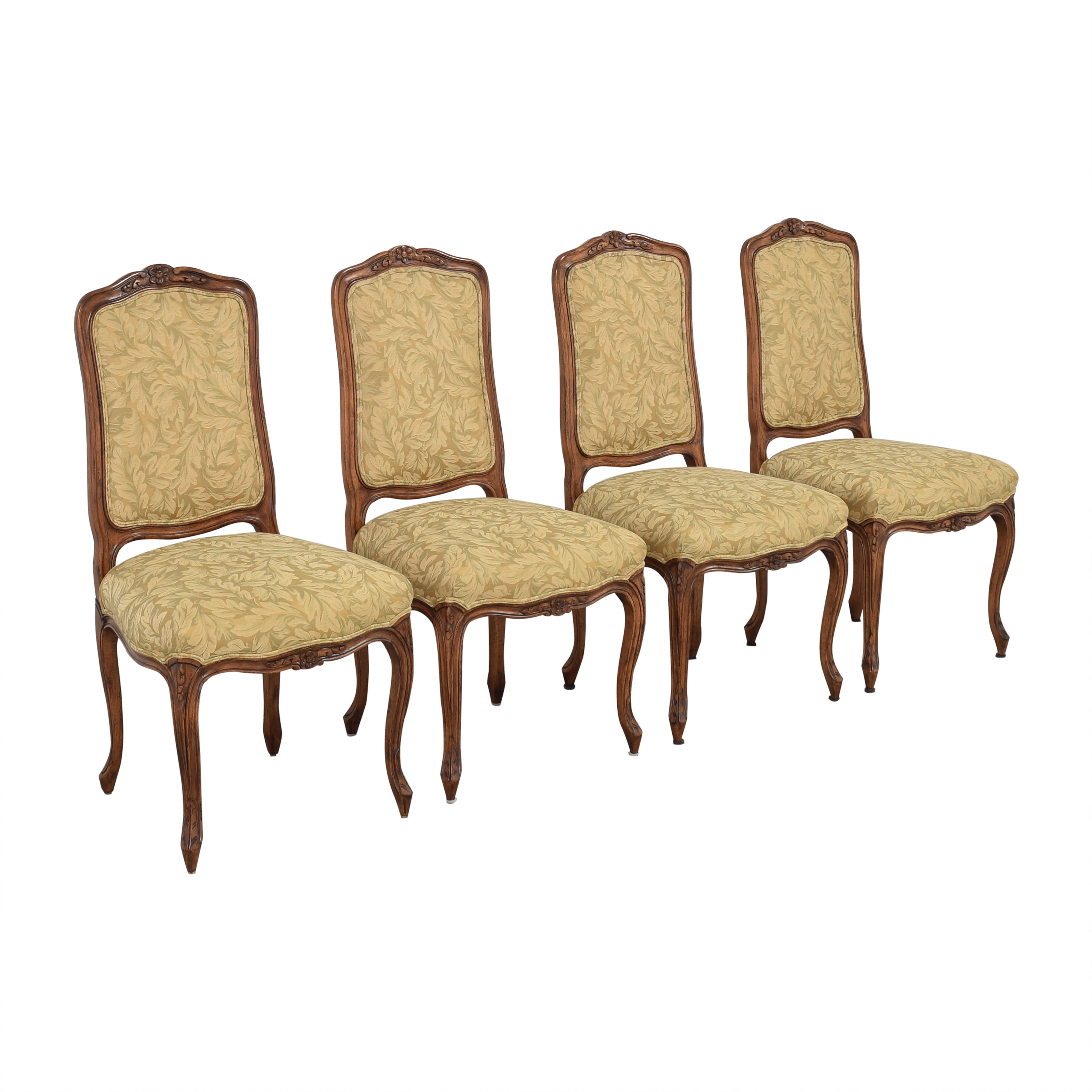 Fremarc Designs Carved Upholstered Dining Chairs sale