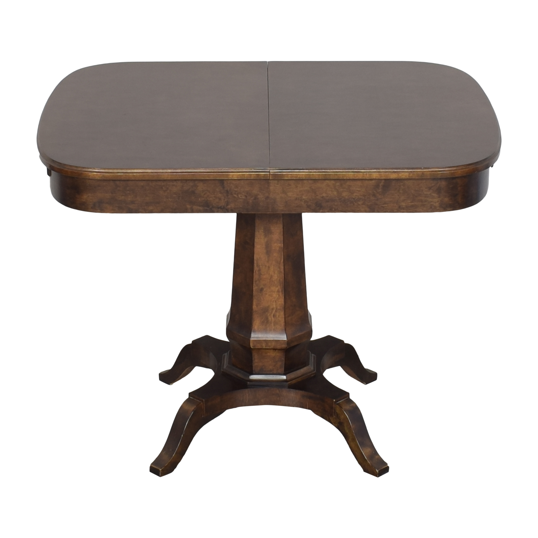 Biedermeier Biedermeier Pedestal Extendable Dining Table for sale