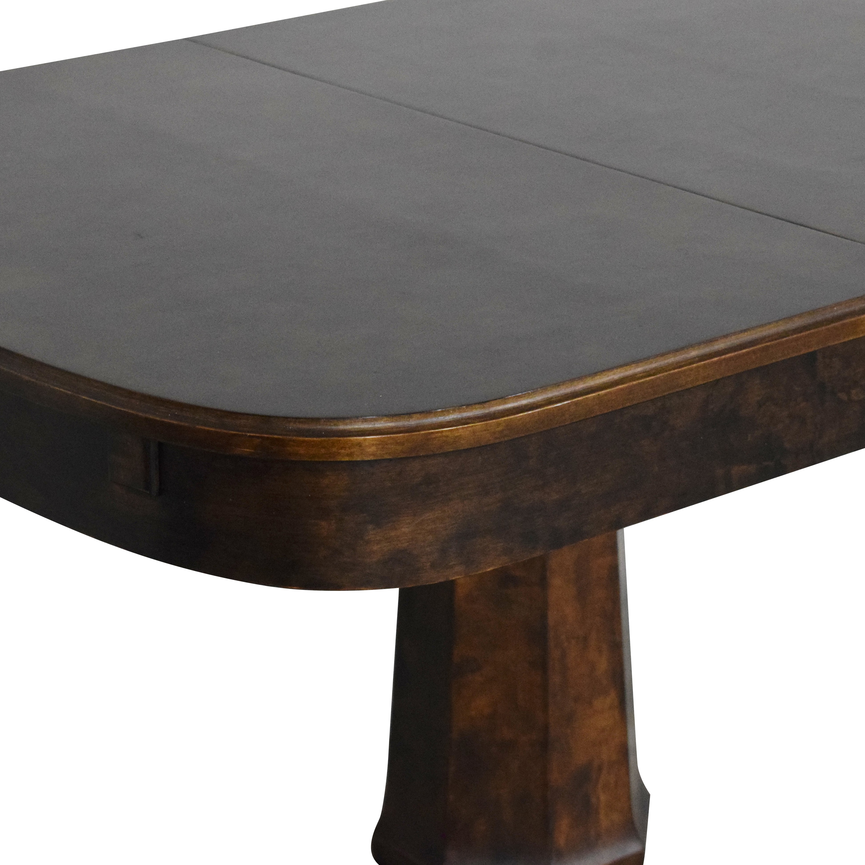 shop Biedermeier Pedestal Extendable Dining Table Biedermeier Tables