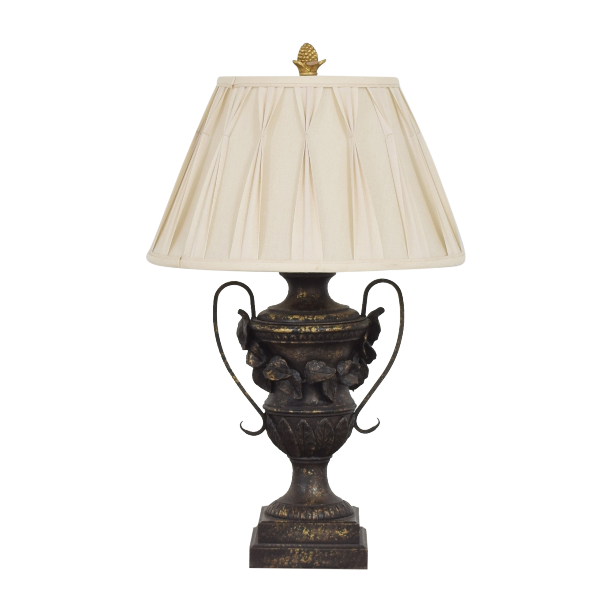 Ethan Allen Ethan Allen Decorative Urn Table Lamp black and off white