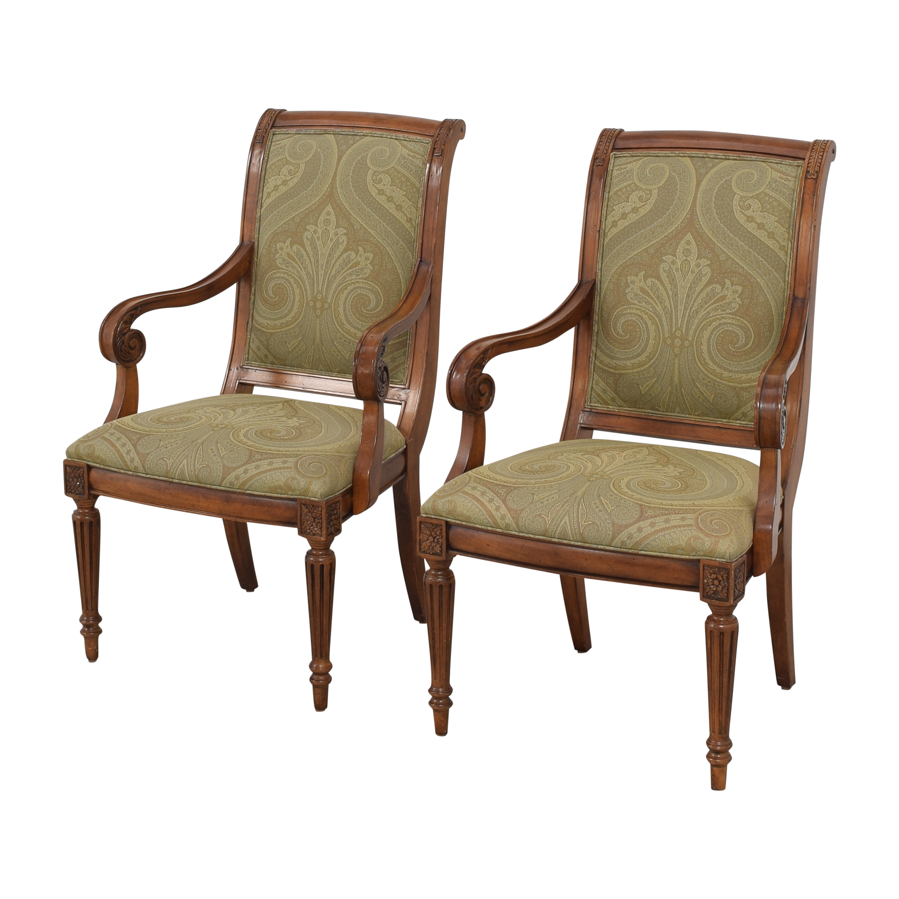 Ethan Allen Ethan Allen Townhouse Addison Dining Arm Chairs Dining Chairs