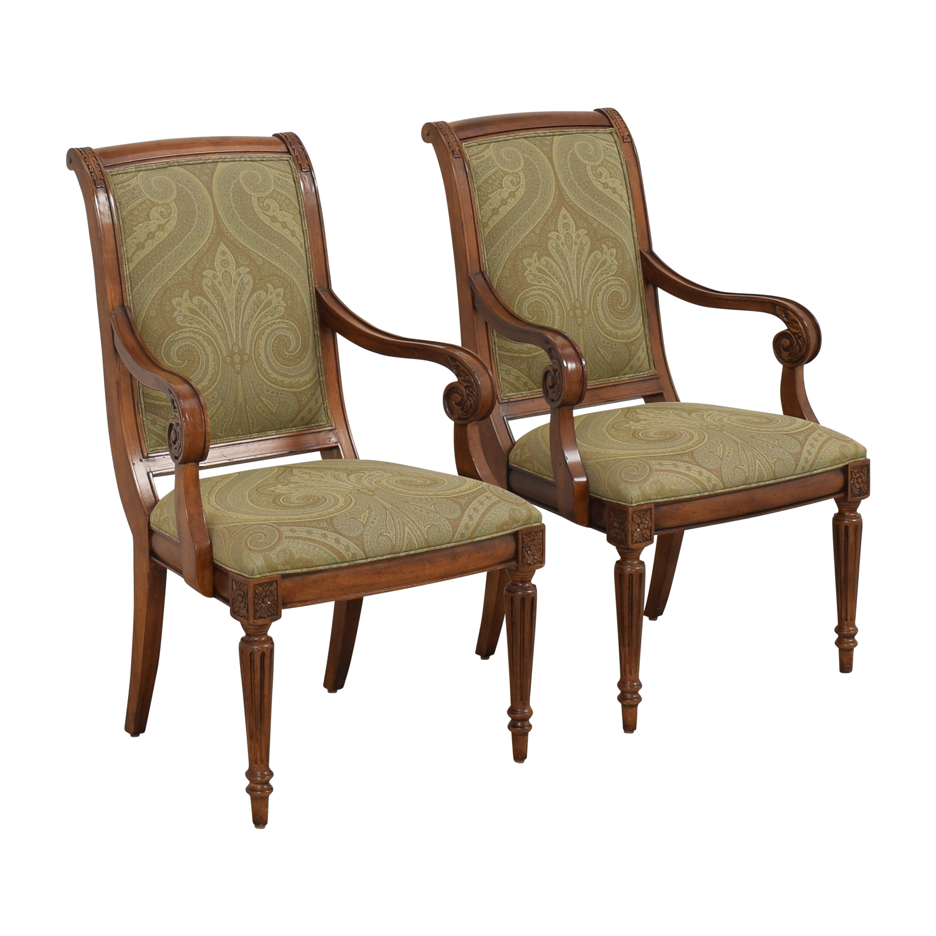 buy Ethan Allen Townhouse Addison Dining Arm Chairs Ethan Allen