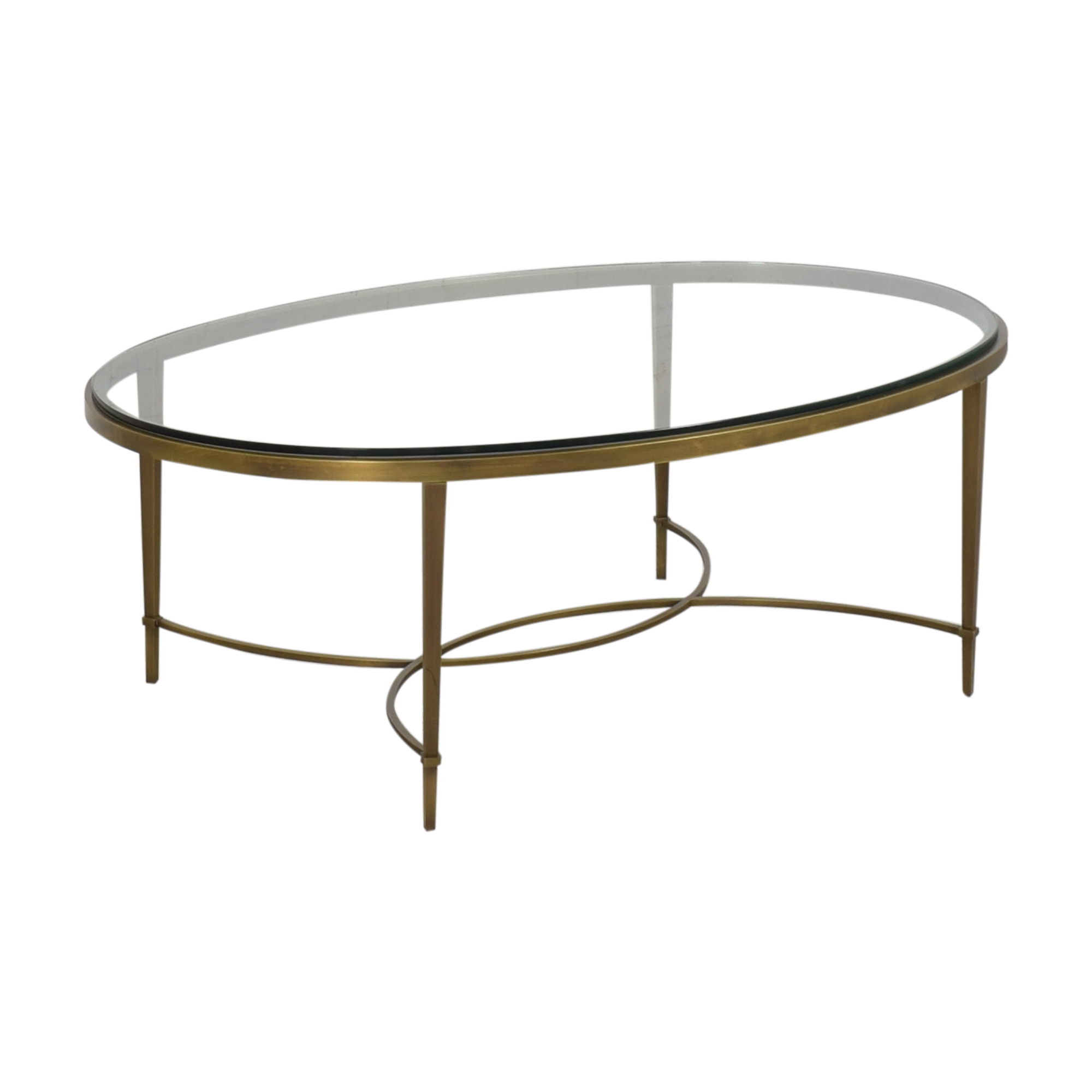 Baker Furniture Baker Furniture Oval Coffee Table gold