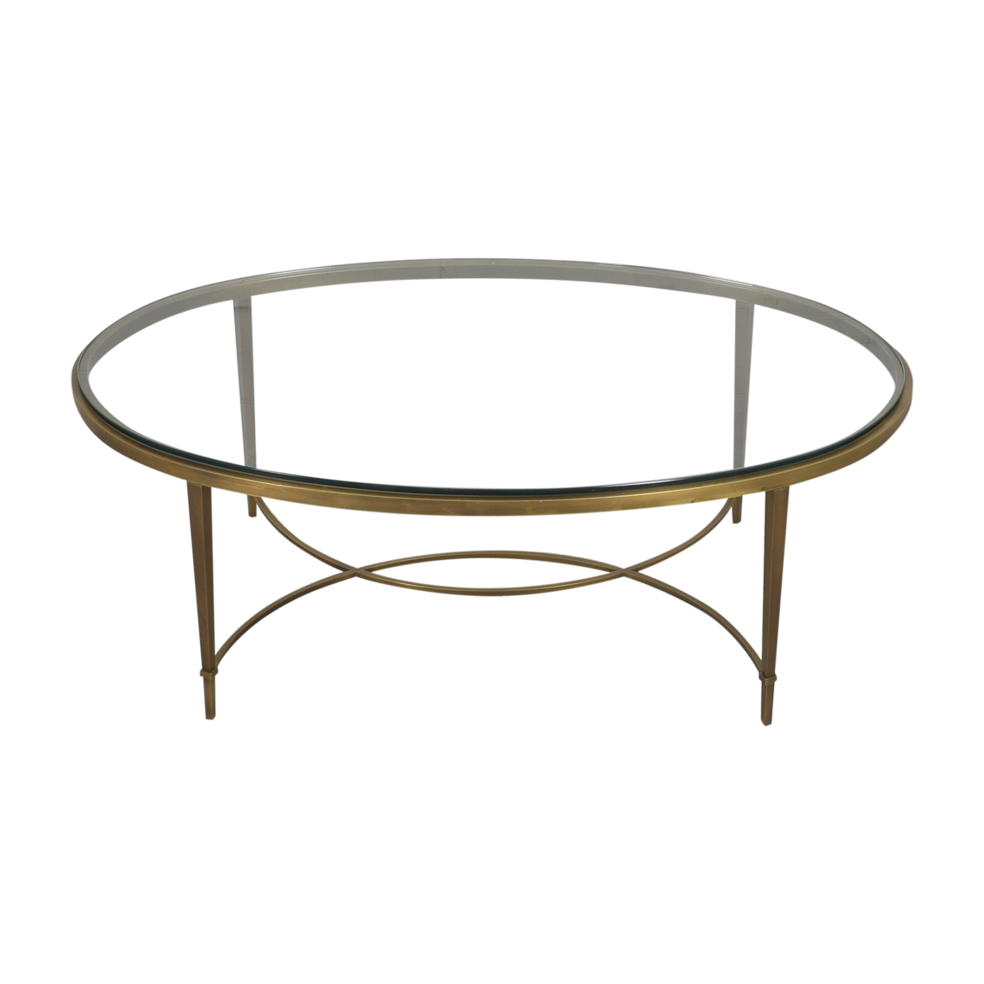 Baker Furniture Oval Coffee Table sale