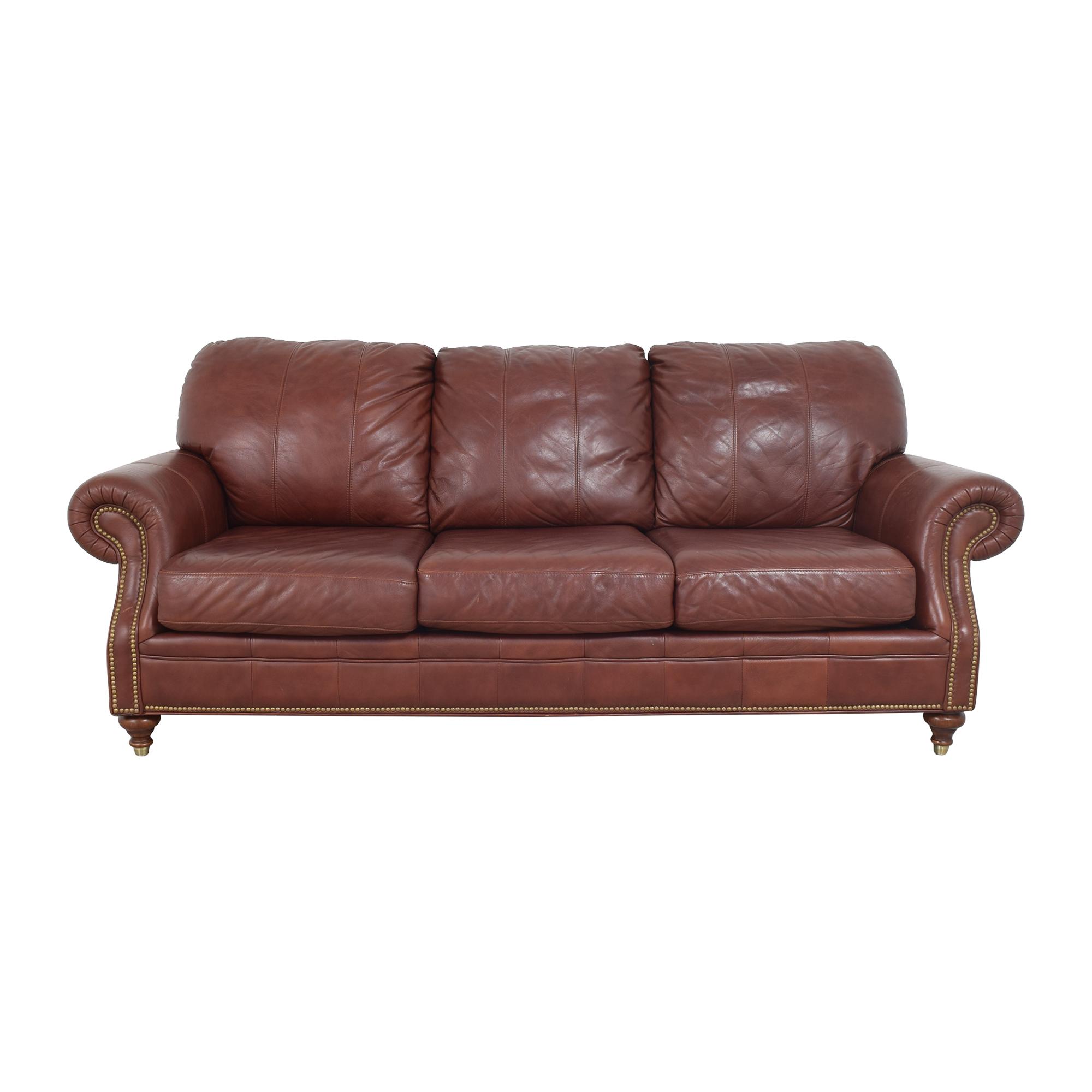 Ethan Allen Ethan Allen Roll Arm Nailhead Sofa Sofas