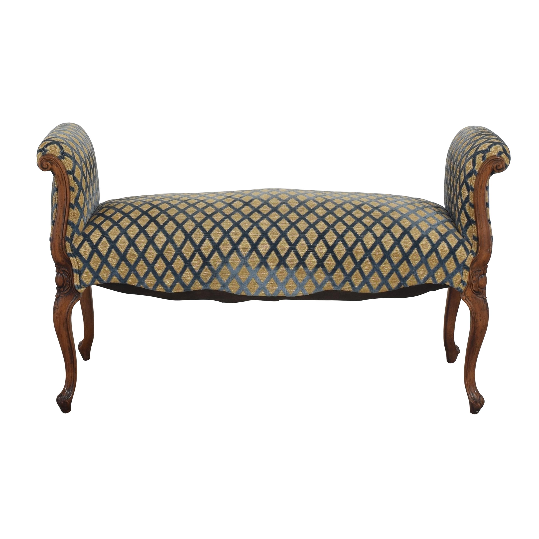 Custom Vintage Upholstered Bench discount