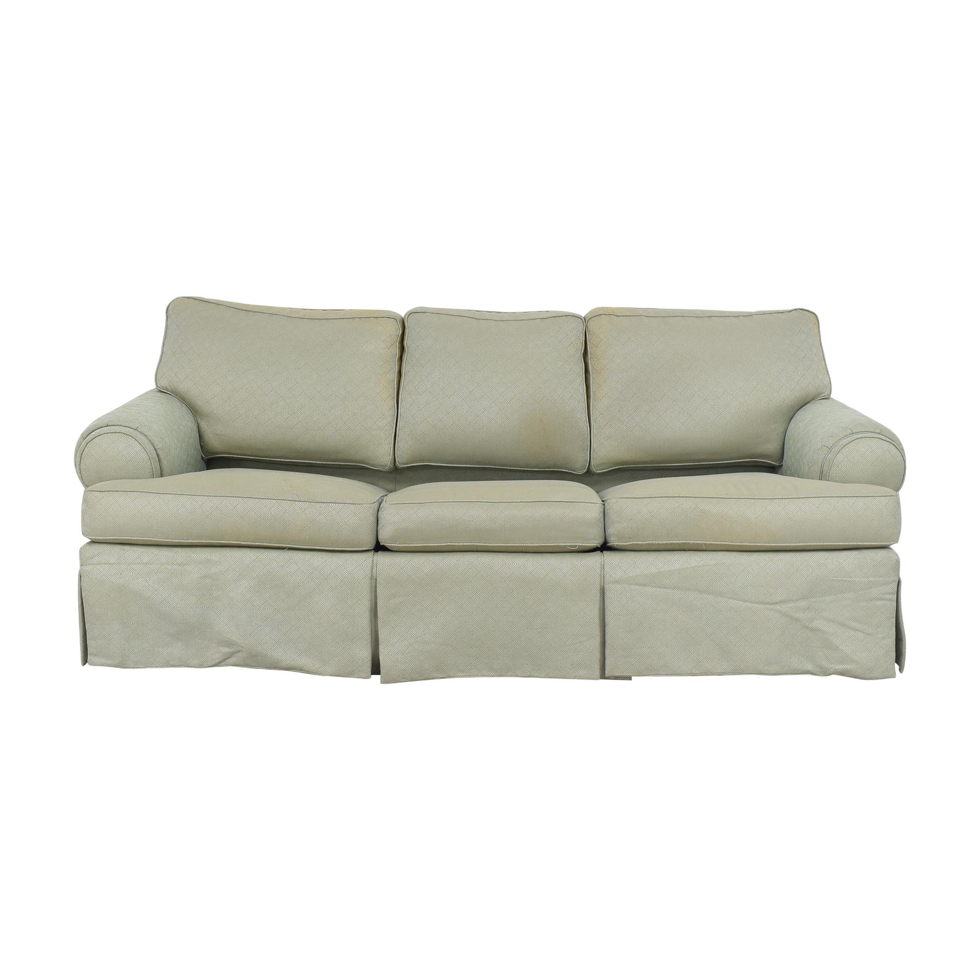 Ethan Allen Ethan Allen Roll Arm Sleeper Sofa dimensions