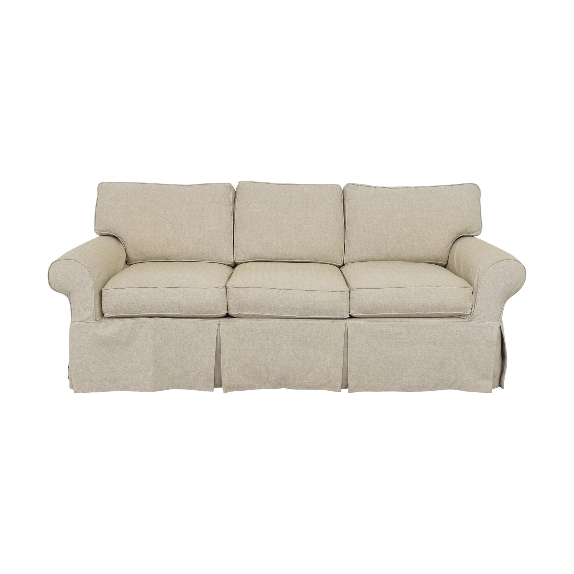 Ethan Allen Ethan Allen Bennett Roll Arm Sofa with Slipcover second hand