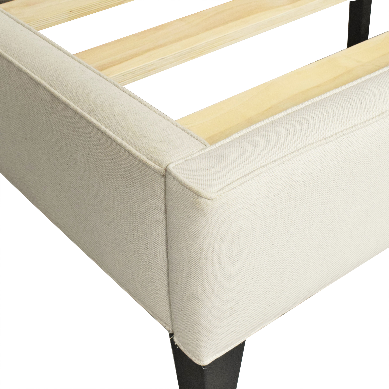 Crate & Barrel Crate & Barrel Colette Queen Upholstered Bed nyc