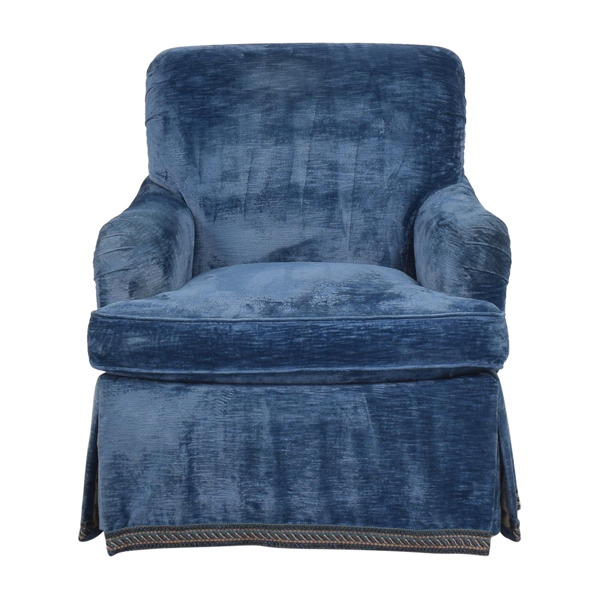 buy  English Roll Arm Swivel Club Chair