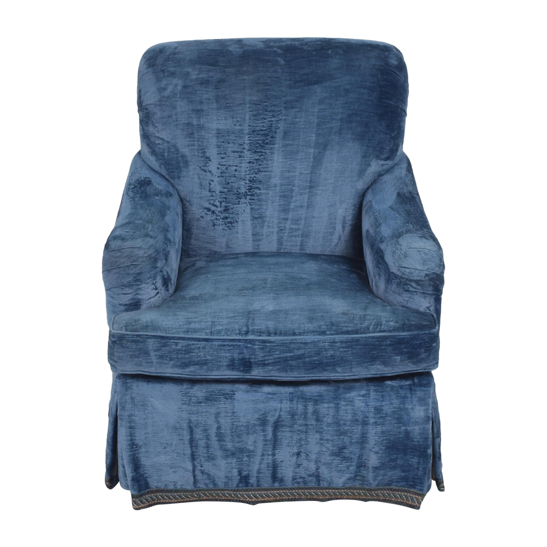 English Roll Arm Swivel Club Chair nyc