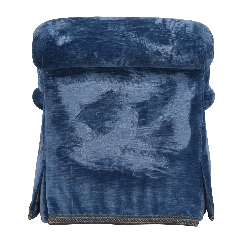 English Roll Arm Swivel Club Chair