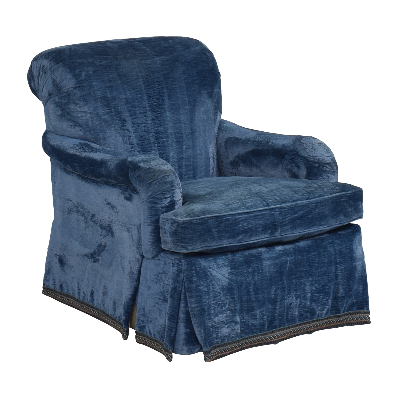 shop English Roll Arm Swivel Club Chair  Accent Chairs