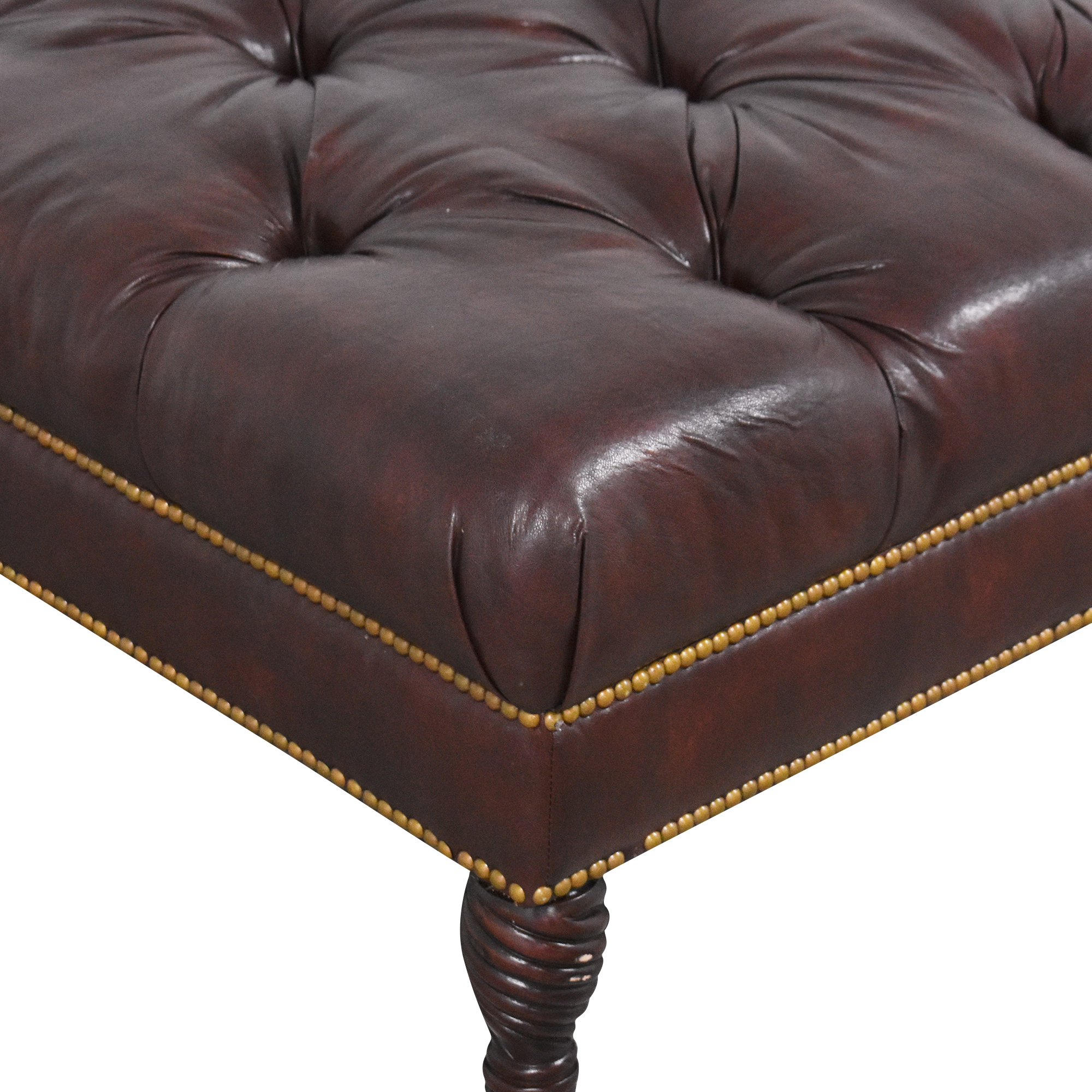 buy Large Tufted Ottoman on Casters