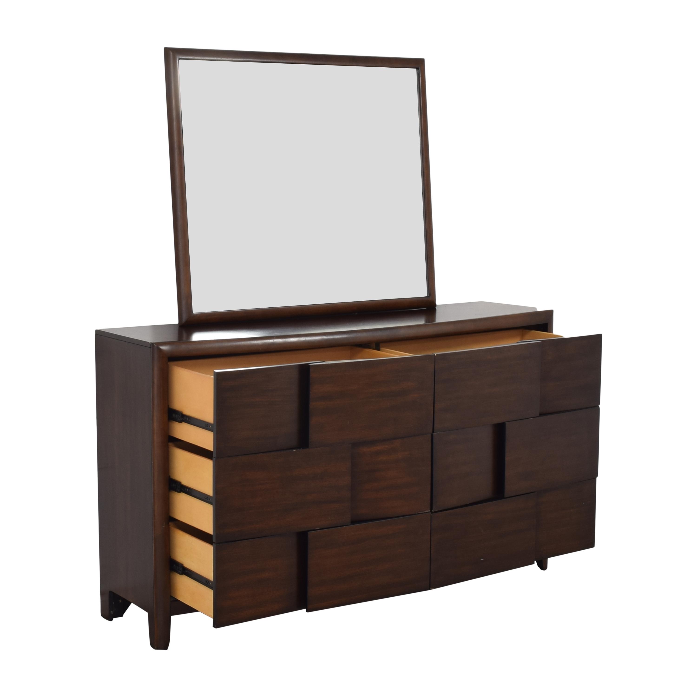 Raymour & Flanigan Raymour & Flanigan Saratoga Dresser with Mirror for sale