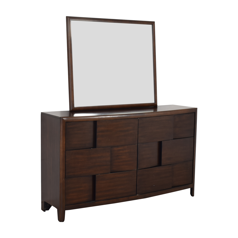 Raymour & Flanigan Saratoga Dresser with Mirror / Storage