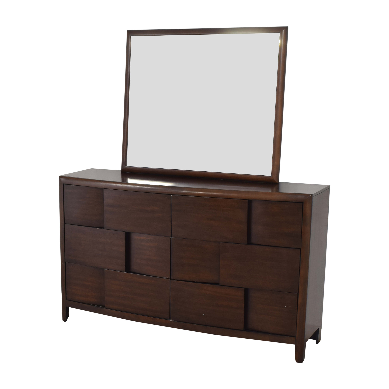Raymour & Flanigan Raymour & Flanigan Saratoga Dresser with Mirror on sale