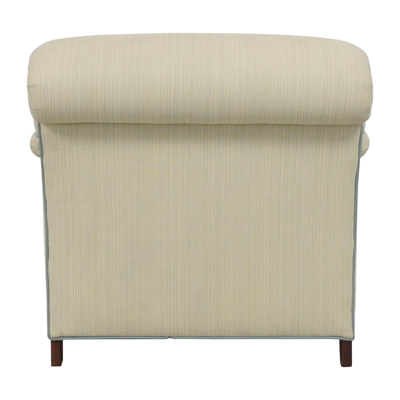 Custom Club Chair with Ottoman second hand