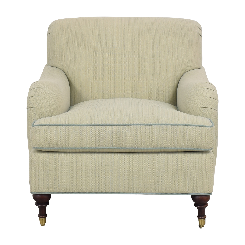 Custom Club Chair with Ottoman used