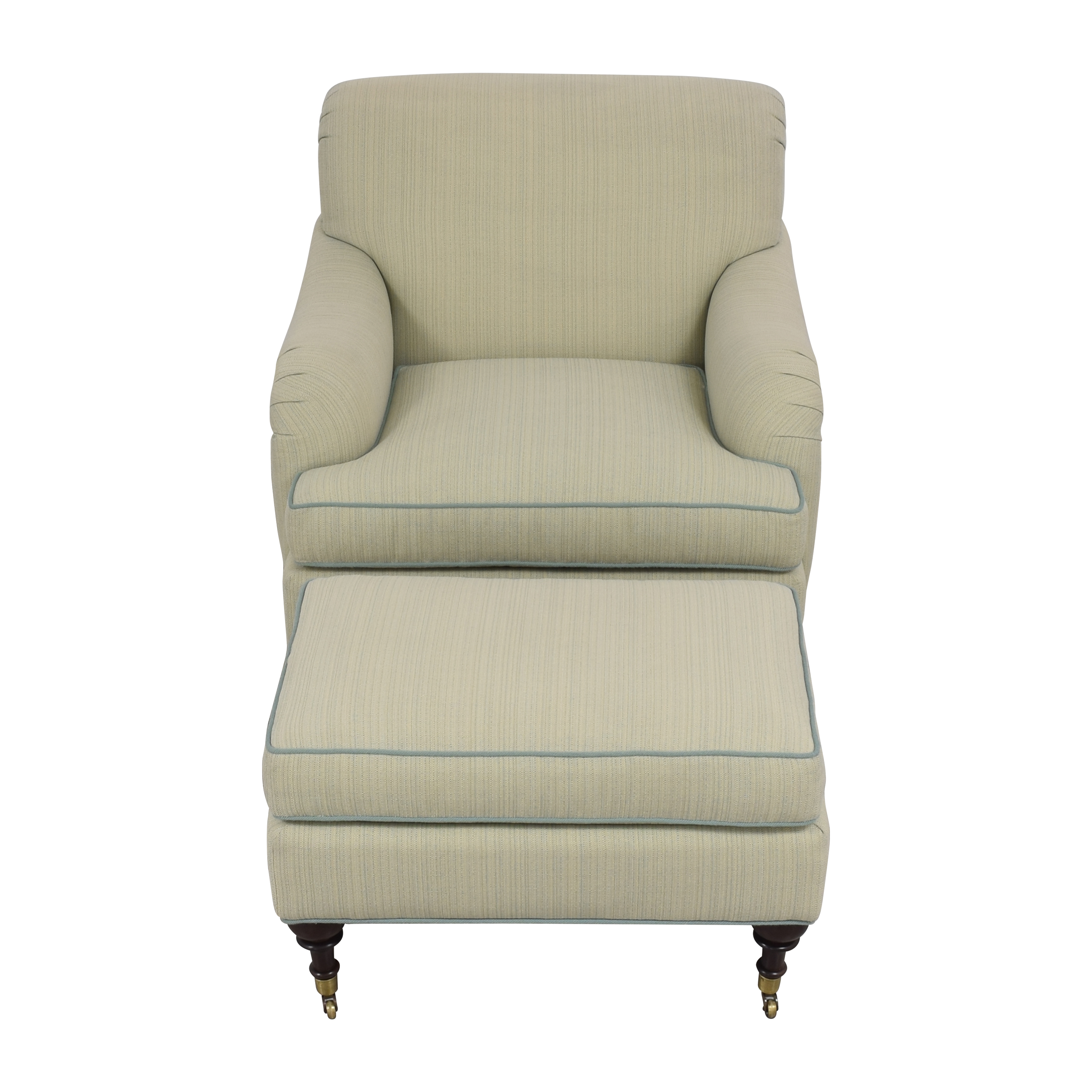 shop Custom Club Chair with Ottoman  Accent Chairs