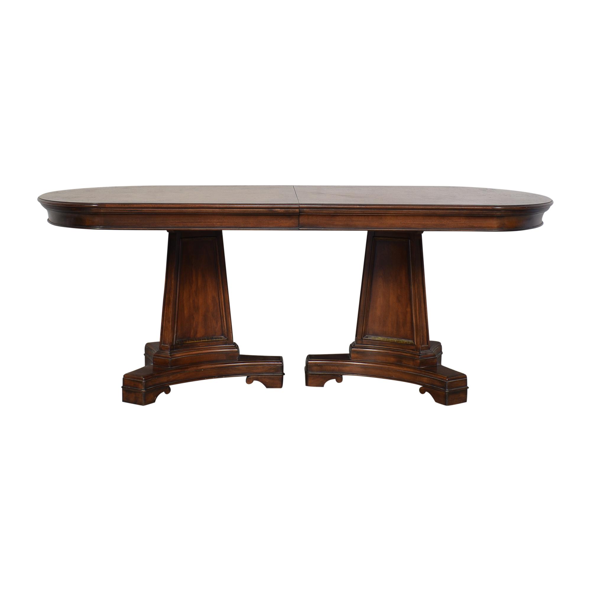 buy Thomasville Deschanel Double Pedestal Dining Table Thomasville