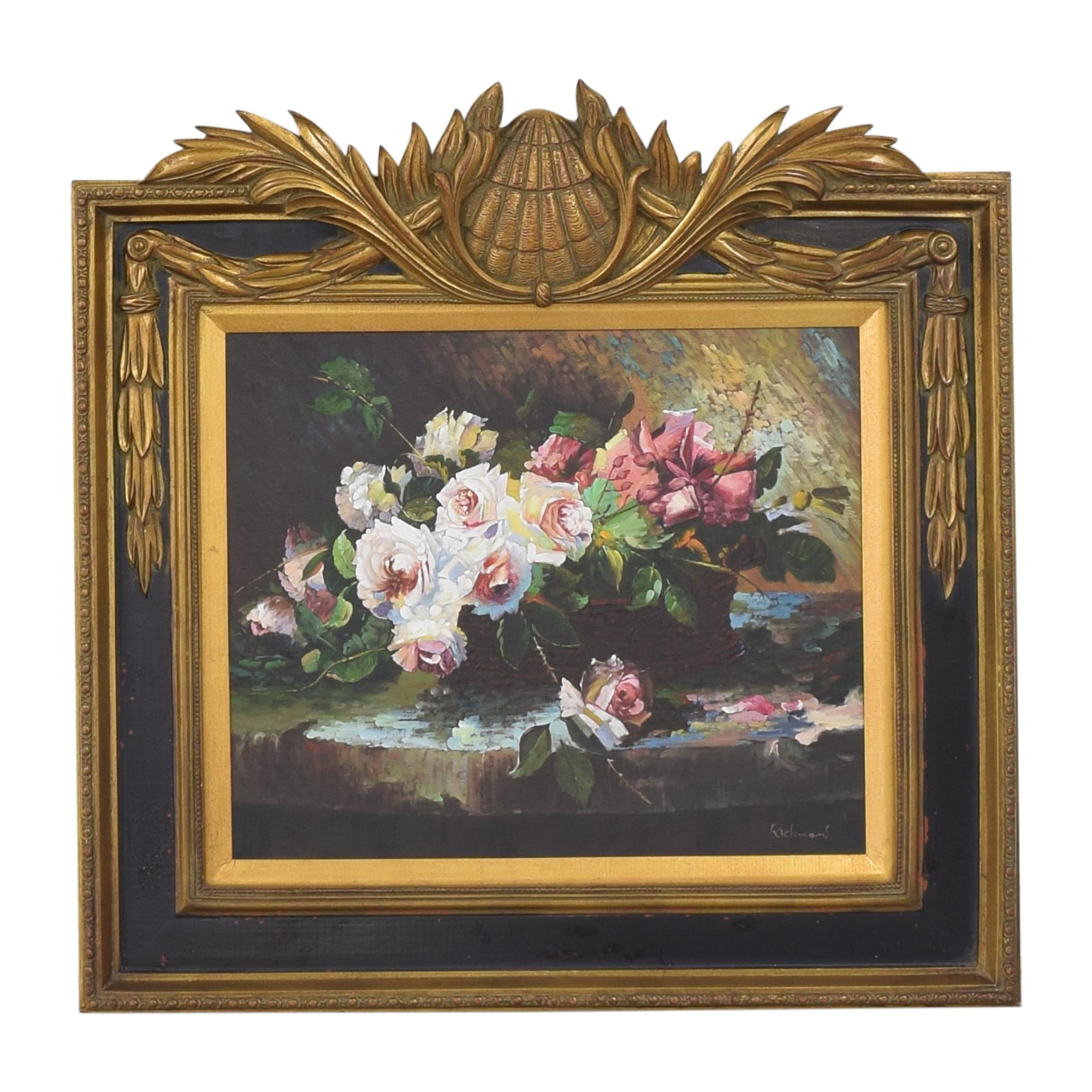 Floral Peony Still Life Art nj