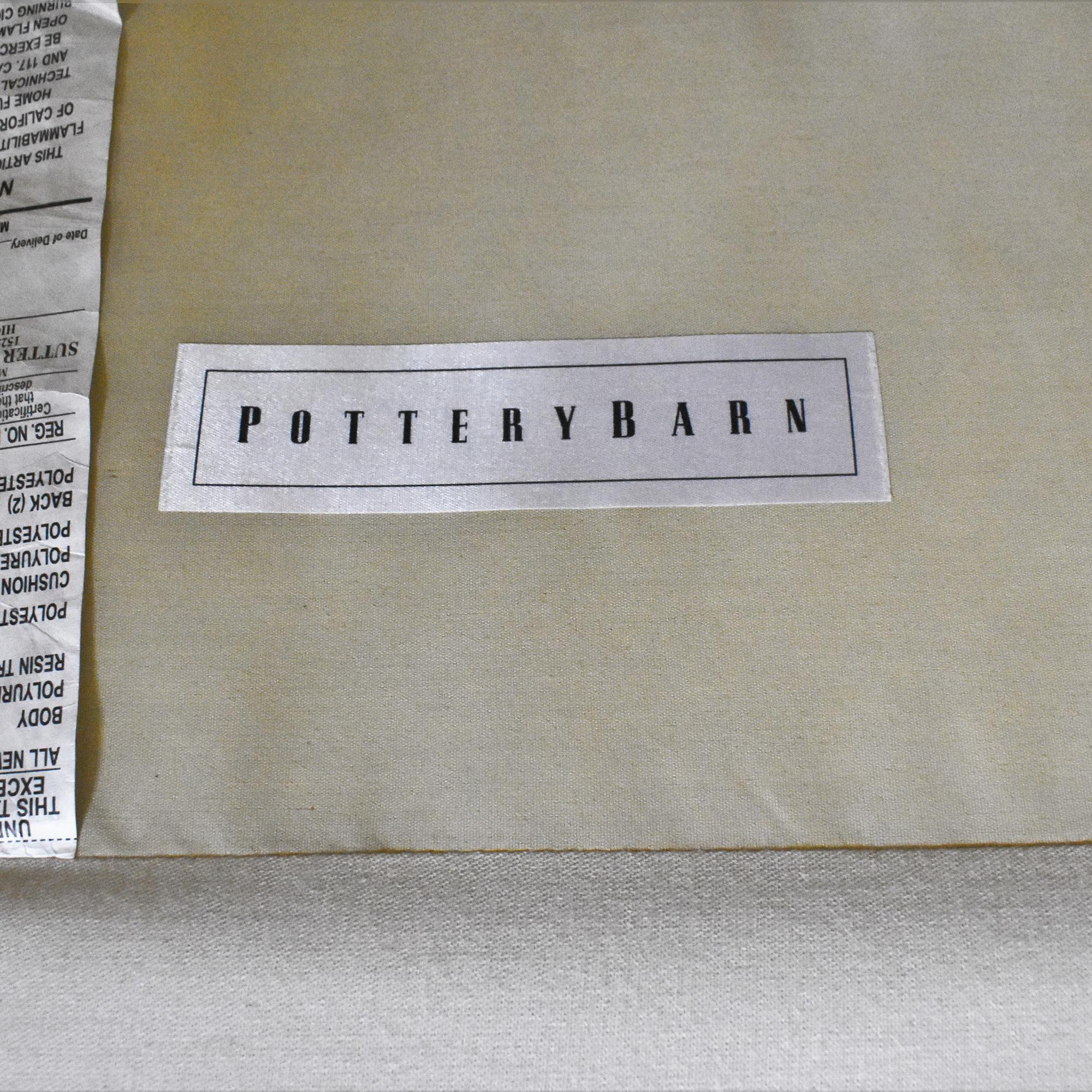 Pottery Barn Comfort Roll Arm Slipcovered Sofa / Classic Sofas