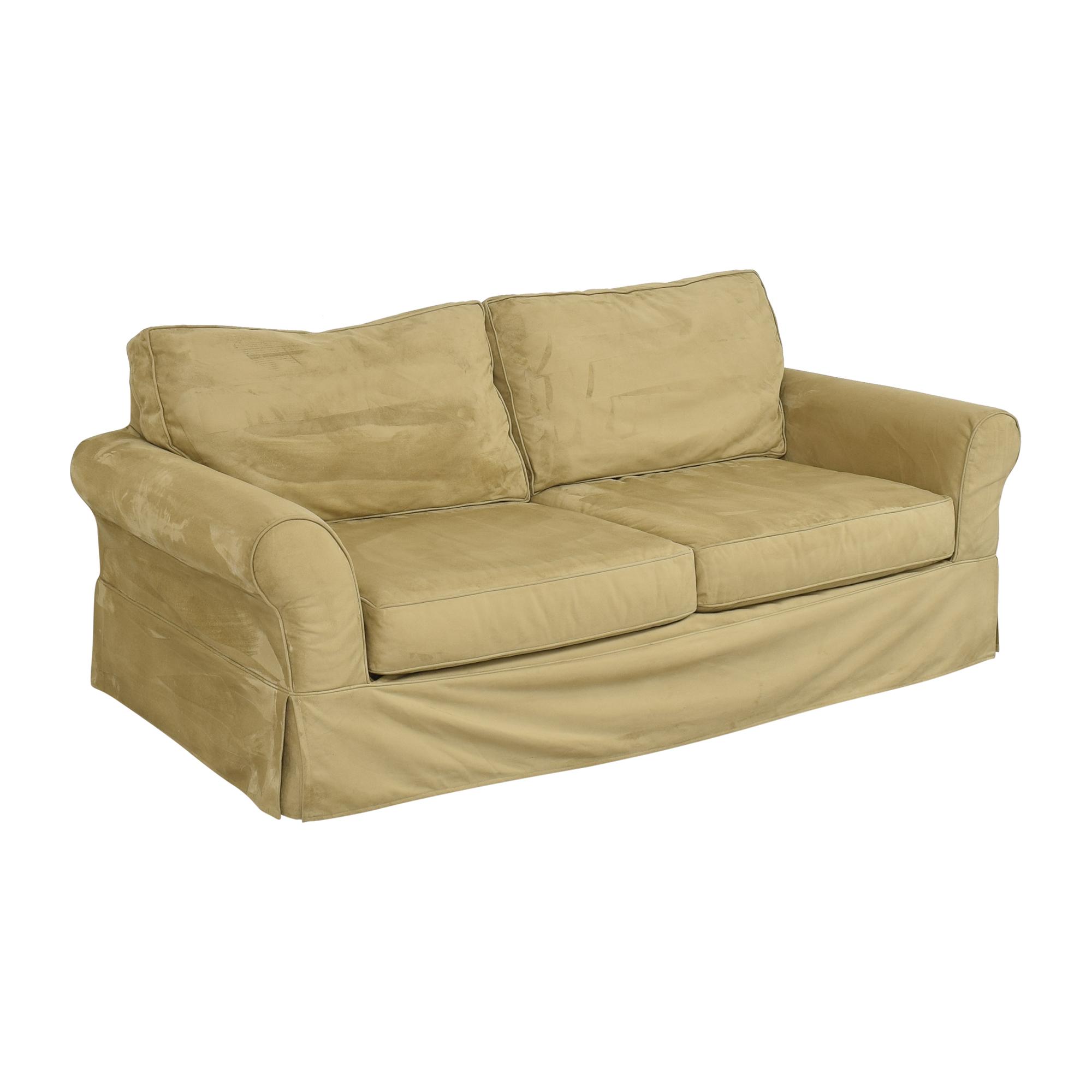 Pottery Barn Pottery Barn Comfort Roll Arm Slipcovered Sofa discount