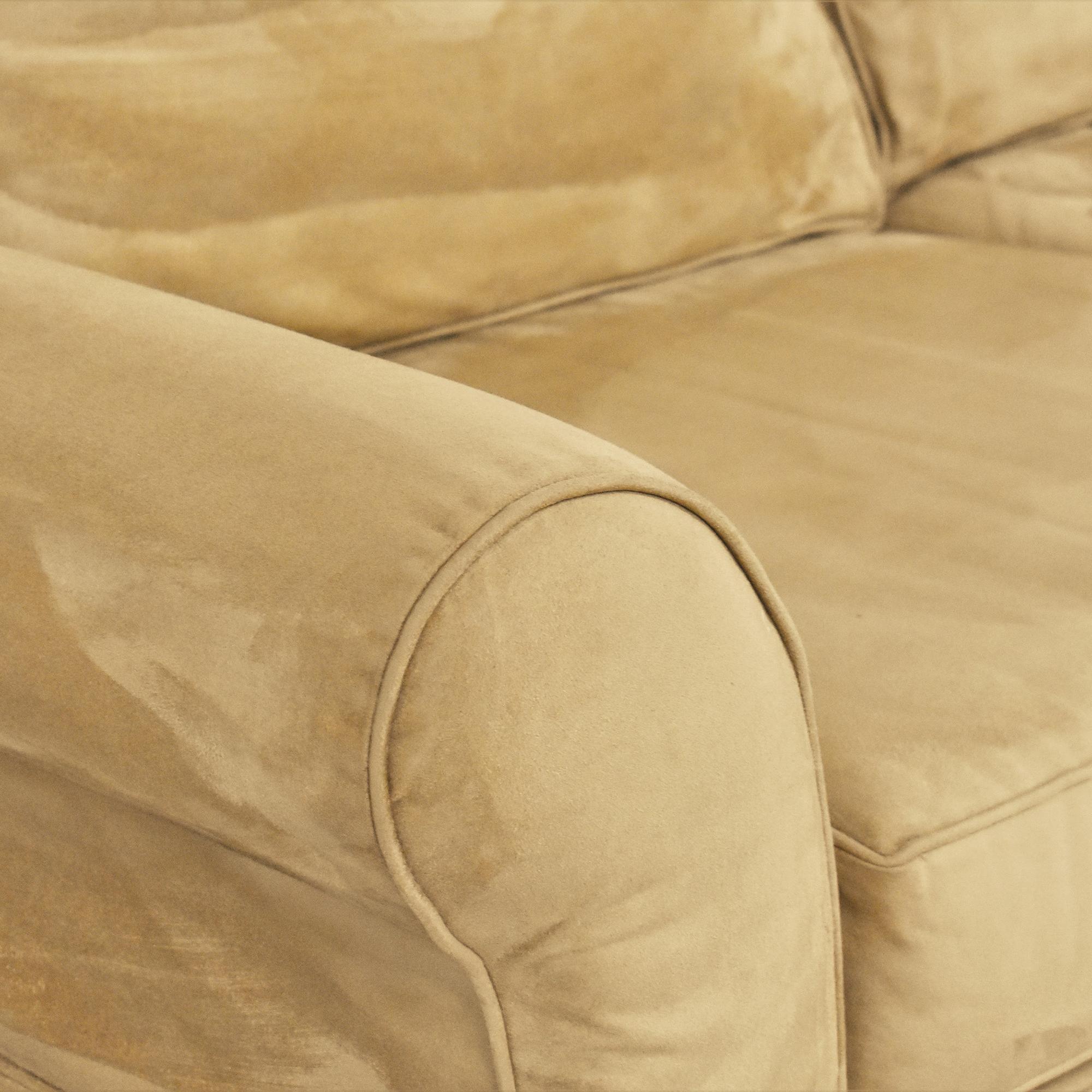 Pottery Barn Pottery Barn Comfort Roll Arm Slipcovered Sofa on sale