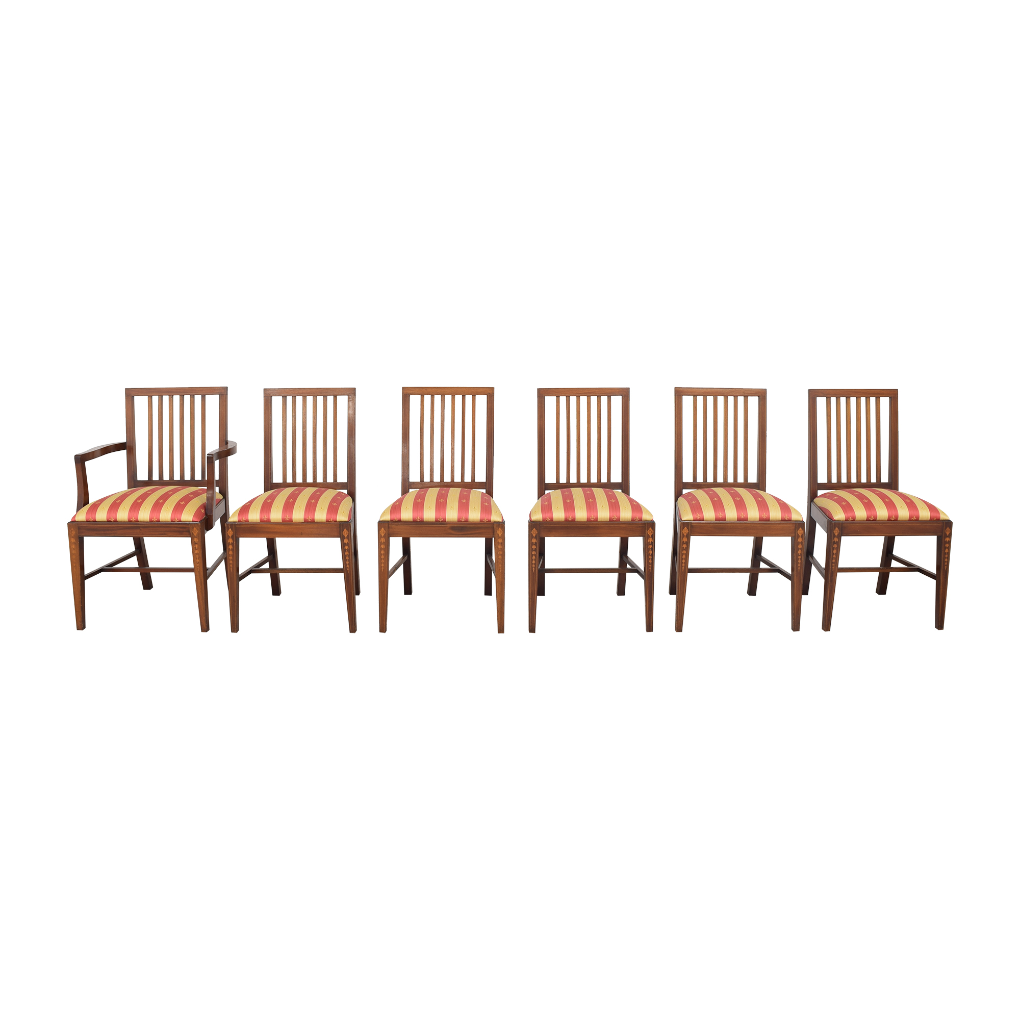 Upholstered Mission-Style Dining Chairs