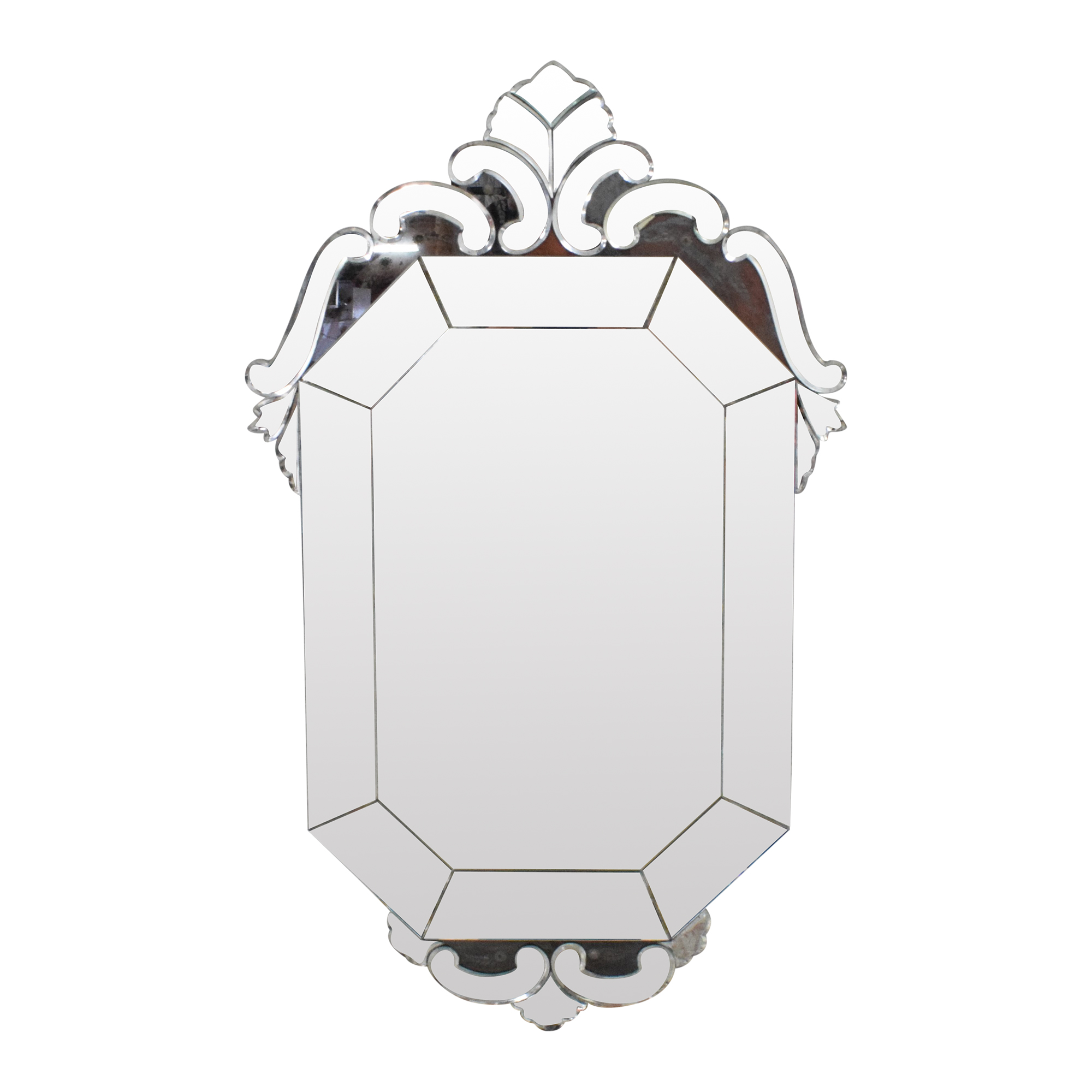 Decorative Wall Mirror silver and clear